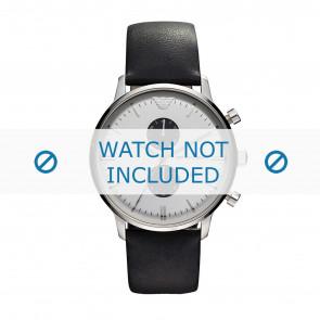 Klockarmband Armani AR0385 Läder Svart 22mm