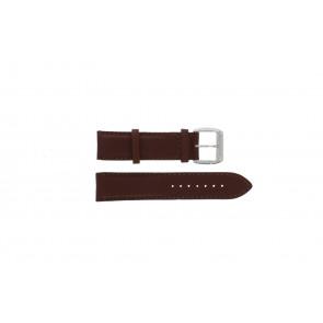 Davis klockarmband BB0231 Läder Mörk brun 21mm + sömmar brun