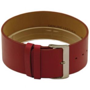 Läder Klockarmband i en del 28mm rött CCC.1037