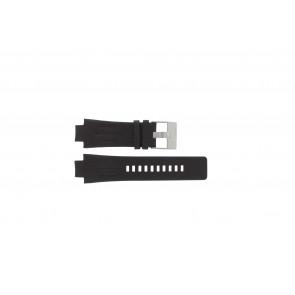Diesel klockarmband DZ4128 Läder Mörk brun 16mm + sömmar brun