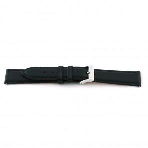 Klockarmband F012 XL Läder Svart 18mm + default sömmar