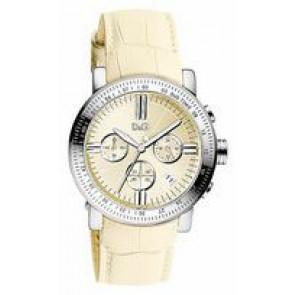 Klockarmband Dolce & Gabbana DW0678 Läder Beige 22mm