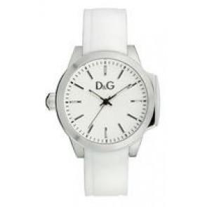 Klockarmband Dolce & Gabbana DW0746 Gummi Vit 18mm