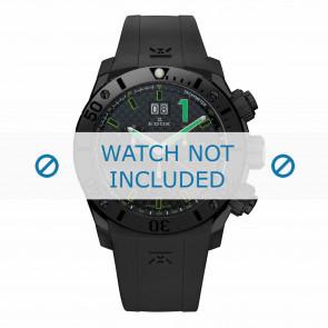 Klockarmband Edox 10020-37N-NV Silikon Svart 22mm