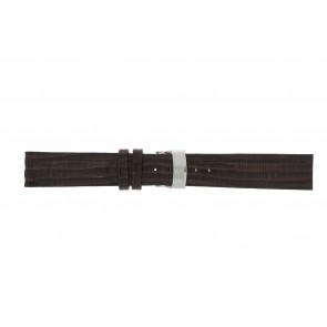 Elysee klockarmband Ely.02 Läder Mörk brun 20mm + sömmar brun