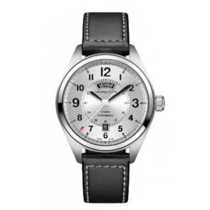 Klockarmband Hamilton H001.70.505.753.01 Läder Svart 20mm