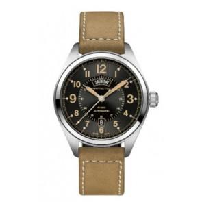 Klockarmband Hamilton H001.70.505.833.01 Läder Beige 20mm