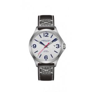 Klockarmband Hamilton H76525751 Läder Svart 20mm