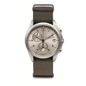 Klockarmband Hamilton H76552955 Textil Taupe 22mm