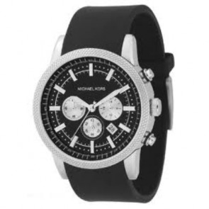 Klockarmband Michael Kors MK8040 / MK8055 Gummi Svart 22mm