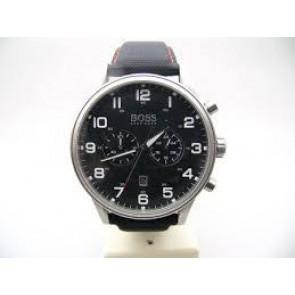 Klockarmband Hugo Boss HB.199.114.2570 Läder/Plastic Svart 22mm