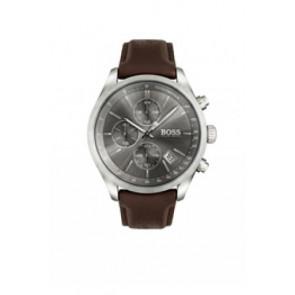 Klockarmband Hugo Boss HB-297-1-14-2956 / HB659302764 Läder Mörk brun 22mm