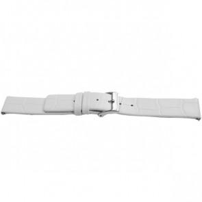 Klockarmband Universell F520 Läder Vit 18mm