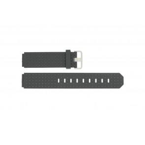 Klockarmband Jacob Jensen 400 / 410 / 411 / 412 Gummi Svart 17mm