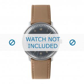 Junghans klockarmband 027/3401.00 Läder Beige 20mm + default sömmar