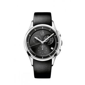 Klockarmband Calvin Klein K2A27161 / K600000065 Läder Svart 20mm