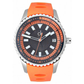 Klockarmband Calvin Klein K32112 Gummi Apelsin