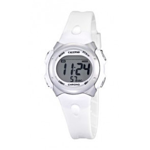 Klockarmband Calypso K5609-1 Gummi Vit