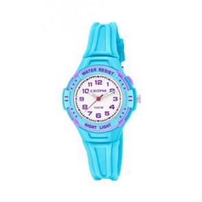 Klockarmband Calypso K6070-2 Gummi Ljusblå