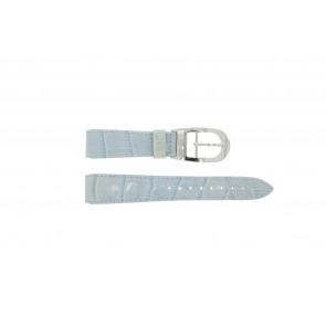 Klockarmband WoW LEDER-BLAUW-18 Läder Blå 18mm