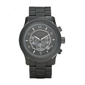 Klockarmband Michael Kors MK8148 Stål/Silikon Antracitgrå 24mm