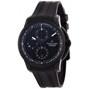 Klockarmband Maurice Lacroix PT6188 / ML640-000027 Gummi Svart