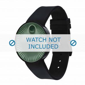 Movado klockarmband 3680041 Silikon Svart 22mm