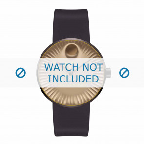 Movado klockarmband 3680043 Silikon Mörk brun 22mm