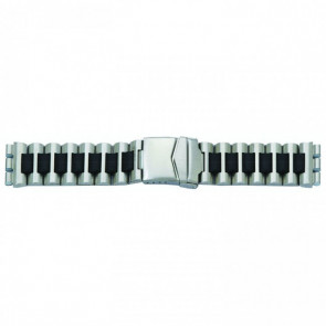 Klockarmband passande Swatch stål svart 19mm 1075