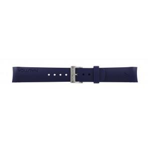 Klockarmband Nautica A18640G / A30004G / A12627G / A12627G Gummi Blå 22mm