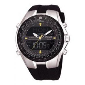 Klockarmband Pulsar NX14-X00101 Silikon Svart