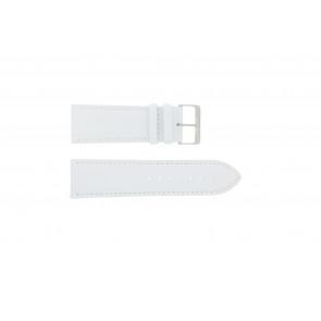 Klockarmband i äkta läder vitt 30mm