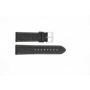 Klockarmband Universell 307L.01 XL Läder Svart 24mm