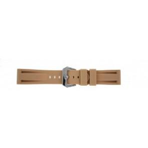 Panerai style Klockarmband siliconen beige 24mm