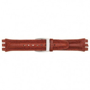 Klockarmband Universell 247.07M Läder Röd 19mm
