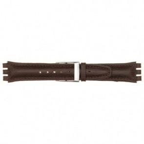 Klockarmband Swatch 247.06PL Läder Röd 19mm