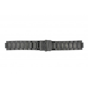 Q&Q klockarmband QQ13ST-AC-ST Metall Antracitgrå 13mm