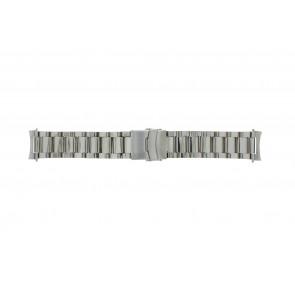 Klockarmband QQ22STROU Metall Ilverfärgad 22mm
