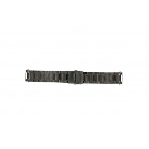 Klockarmband QQ22ZWR Metall Svart 22mm