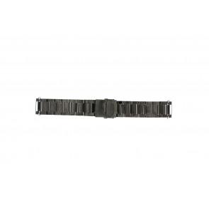 Klockarmband QQ24ZWR- Metall Antracitgrå 24mm