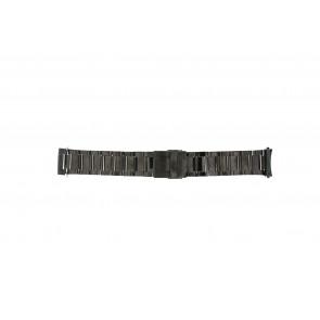 Klockarmband QQ24ZWRD Metall Antracitgrå 24mm