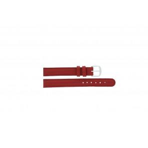 Q&Q klockarmband QQ12LDRGS Läder Röd 12mm + sömmar rött