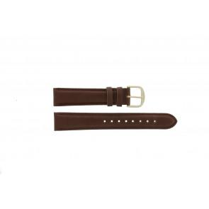 Q&Q klockarmband QQ18LDBG-GD Läder Brun 18mm + sömmar brun