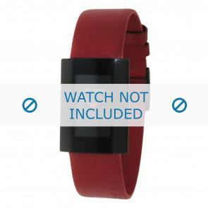 Rolf Cremer klockarmband 501005 Läder Röd 18mm