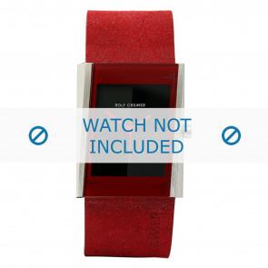 Rolf Cremer klockarmband 502011 Läder Röd 26mm