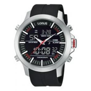 Klockarmband Lorus Z021-X002-RW607AX9 Gummi Svart 21mm
