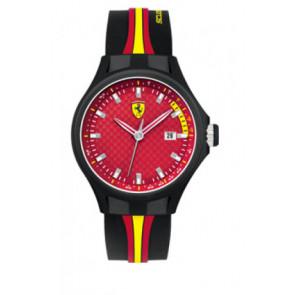 Klockarmband Ferrari SF-01-1-47-0003 / SF689300008 / 0830009 Silikon Svart 22mm