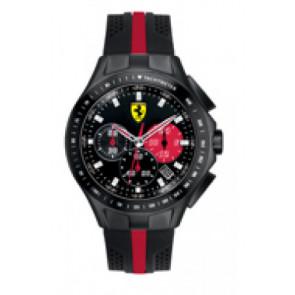 Klockarmband Ferrari SF-03-1-34-0015 / 689300022 Silikon Svart 22mm