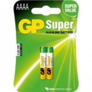 GP Batteri Super Alkaline AAAA - 1.5v