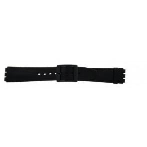 Klockarmband Swatch (alt.) SC15.01 Läder Svart 16mm
